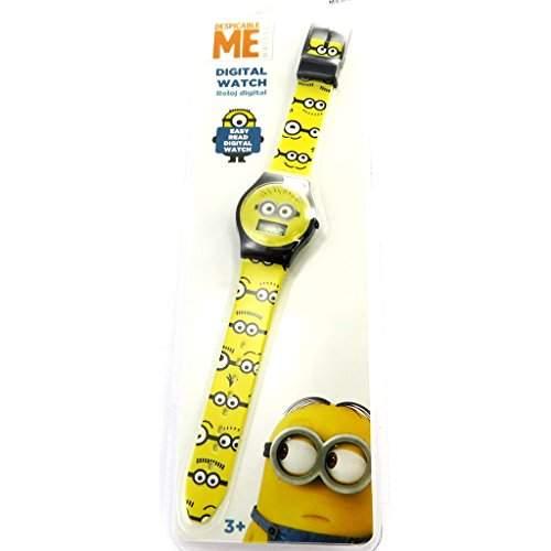 Digitale armbanduhr Minionsschwarz gelb