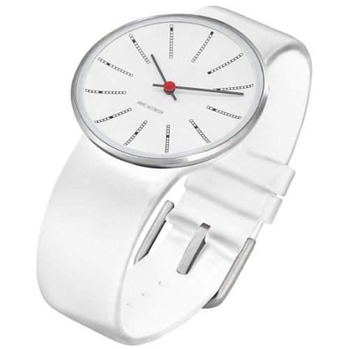 Rosendahl Unisex-Armbanduhr Analog Edelstahl weiss 43466