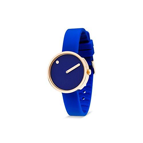 Rosendahl Unisex Armbanduhr Picto Analog Quarz Silikon 103986