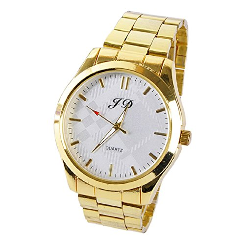 Culater Luxus Gold band Quarz Analog Edelstahl Armbanduhr Maenner uhr weiss