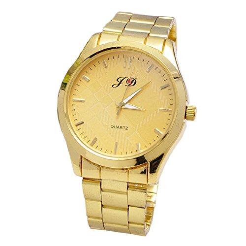 Culater Luxus Gold band Quarz Analog Edelstahl Armbanduhr Maenner uhr gold
