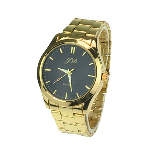 Culater Luxus Gold band Quarz Analog Edelstahl Armbanduhr Maenner uhr schwarz