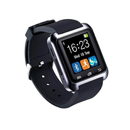 Culater U80 Smart Bluetooth Armbanduhr Schrittzaehler fuer Android Schwarz