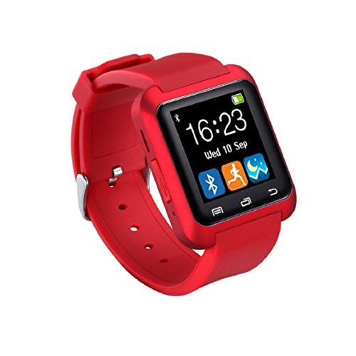 Culater U80 Smart Bluetooth Armbanduhr Schrittzaehler fuer Android Rot
