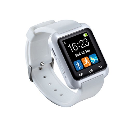Culater U80 Smart Bluetooth Armbanduhr Schrittzaehler fuer Android Weiss