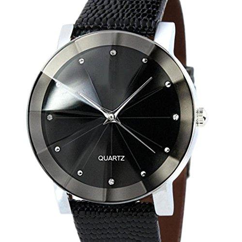 Culater Luxus Herren Rostfreier Stahl Leder Gurt Analog Quarz Sport Armbanduhr