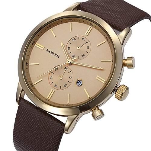 Culater Herren wasserdicht Luxus Militaer Japan Armbanduhren gold