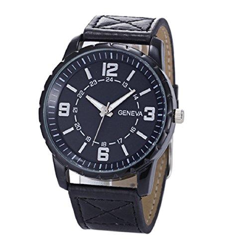 Culater Maenner Luxus Roemer Ziffern Armbanduhr einfachen Stil Uhr schwarz