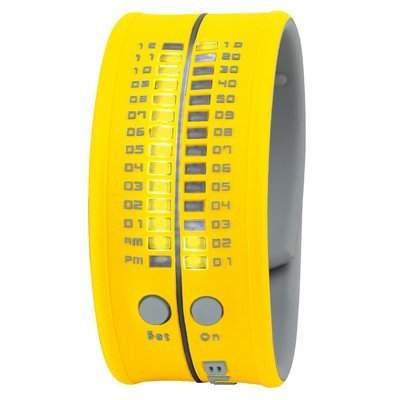 Unisex Armbanduhr aus Silikon gelb LED gelb