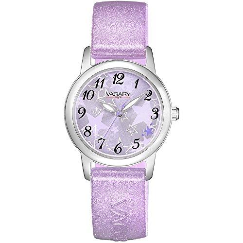Uhr Vagary Girl 91st IH7 018 94 Quarz Stahl Quandrante Pink Armband Silikon