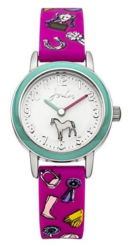 Joules girls Watch pink Flower Dial with pink Silicon Strap Analog JS013