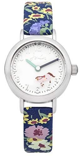 Intelihance Mädchen-Armbanduhr Analog Quarz weißes Zifferblatt und mehrfarbiges Silikon-Armband JS016
