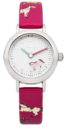 Joules girls Watch pink Flower Dial with pink Silicon Strap Analog JS017