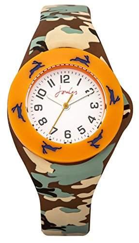 Joule Boy Quarz-Uhr mit weissem Zifferblatt Analog-Anzeige und Silikon-Gurt js019