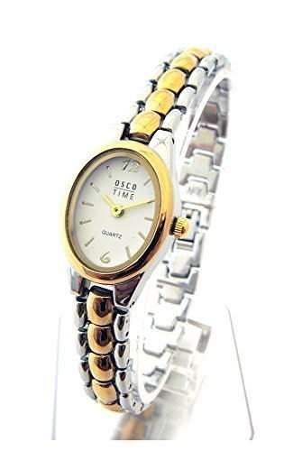 OSCO Klassik * Damen Schmuckband Armbanduhr Bicolor High Roller 02087013