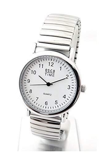 OSCO Klassik Herren Armbanduhr Zugband Edelstahl 03370051