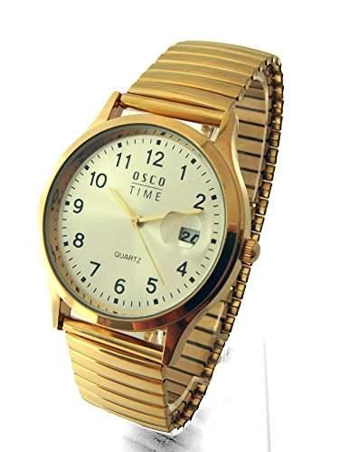 OSCO Klassik Herren Armbanduhr Zugband Goldfarben 04648008