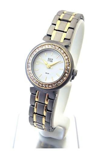 OSCO TITAN Armbanduhr Damenuhr Schmuckband Bicolor Weiss 05055003