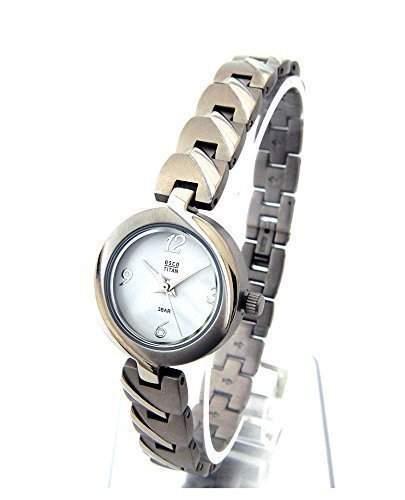 OSCO TITAN Armbanduhr Damenuhr Schmuckband Weiss 06133001