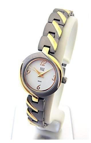 OSCO TITAN Armbanduhr Damenuhr Schmuckband Bicolor Weiss 06133002