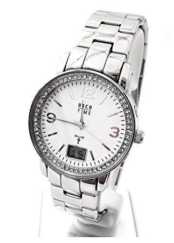 OSCO Funk Damen Armbanduhr Funkuhr Lady Steel 06171001