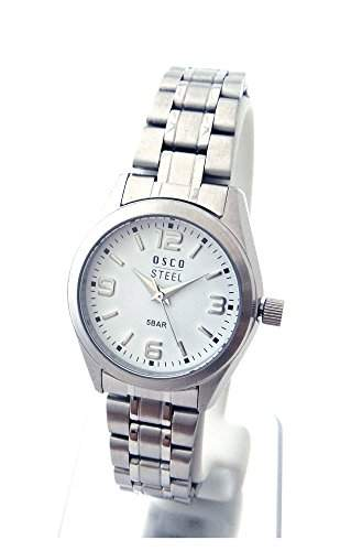 OSCO Workline Damen Armbanduhr Edelstahl weiss 06187011