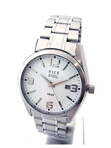 OSCO Workline Herren Armbanduhr Edelstahl weiss 06188011