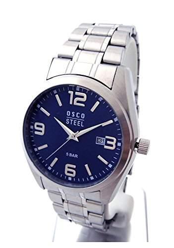OSCO Workline Herren Armbanduhr Edelstahl blau 06188013