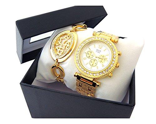 OSCO Damen Schmuckbanduhr Chrono Optik Statement Watch Gold 06177001