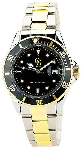 Montre Concept Uhr analog Maenner Armband edelstahl bicolore gold und silber gehaeusering rund farbe silber zifferblatt schwarz MVS 1 0001