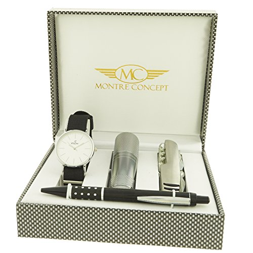 montre concept Geschenk Set Uhr mit Taschenlampe Messer Multifunktions Y Stift ccl 1 0080