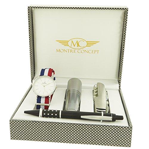 montre concept Geschenk Set Uhr mit Taschenlampe Messer Multifunktions Y Stift ccl 1 0081