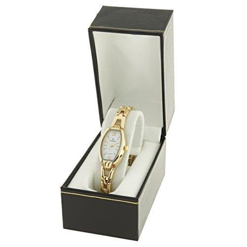 Montre Concept Geschenkschatulle Damen Armband Metall gold Zifferblatt Fass Farbe Gold Boden Weiss mab 2 00083