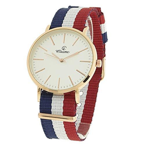 Montre Concept Geschenkschatulle Damen Armband Nylon Mehrfarbig Zifferblatt rund Farbe Gold Rosa Boden Weiss mvs 2 00288