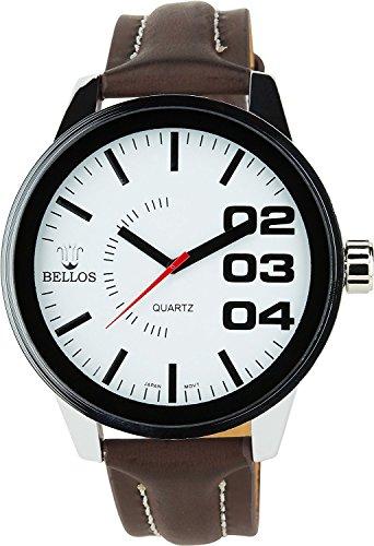 Montre Concept Uhr analog Maenner Armband kunstleder braun gehaeusering rund farbe silber zifferblatt weiss MVS 1 0043