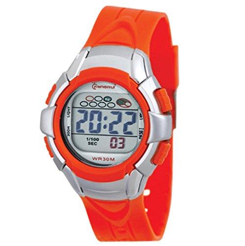 Montre Concept PP MR8512 ORANGE digital Uhrband aus organgefarbenem Kunststoff orangefarbenes Zifferblatt