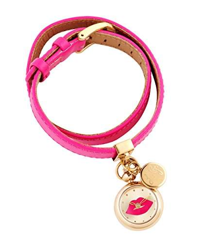 Lulu Guinness Lulu Guinness rosa doppelt gewickelt women- Uhr Armbanduhr Analog Quarz Leder 0950349 pink