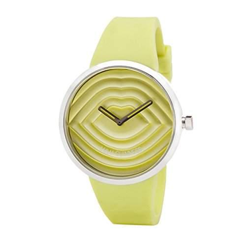 Lulu Guinness Lulu Guinness Lime, gesteppt, Armbanduhr womens Armbanduhr Analog Silikon gruen, 0950609