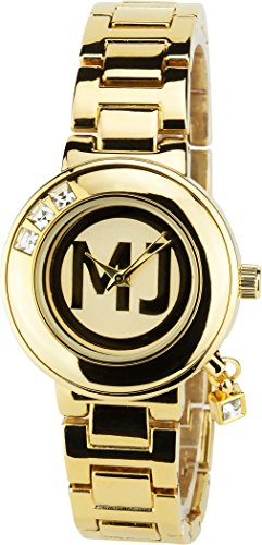 MICHAEL JOHN Gold Quarz Stahl Analog Display Typ stilvoll Sport Modus Armband Gold Stahl