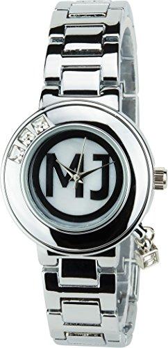 MICHAEL JOHN Silber Quarz Stahl Analog Display Typ stilvoll Sport Modus Armband Silber Stahl