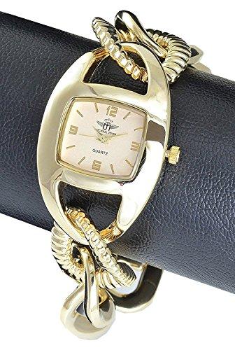 Michael John Gold Analog Metall Armbanduhr Quarz Uhr