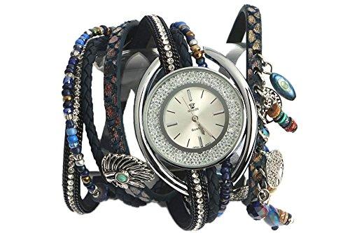 Michael John Zeigt Damen Fantasie Armband Doppel Blau Alya