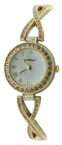 Golddigga Damen-Armbanduhr Analog Gold DIG02B