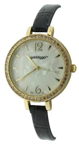 Golddigga Damen-Armbanduhr Analog schwarz DIG13A