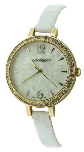 Golddigga Damen-Armbanduhr Analog weiss DIG13B