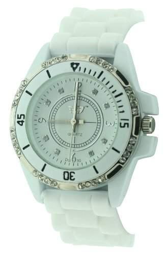 Golddigga Damen-Armbanduhr Analog Weiss DIG30B