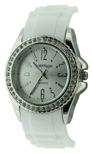 Golddigga Damen-Armbanduhr Analog Weiss DIG31A