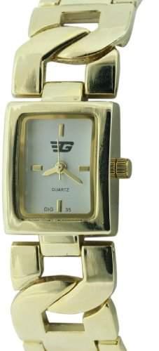 Golddigga WomenQuarz-Uhr mit weissem Zifferblatt Analog-Anzeige und-goldenes Armband DIG35A