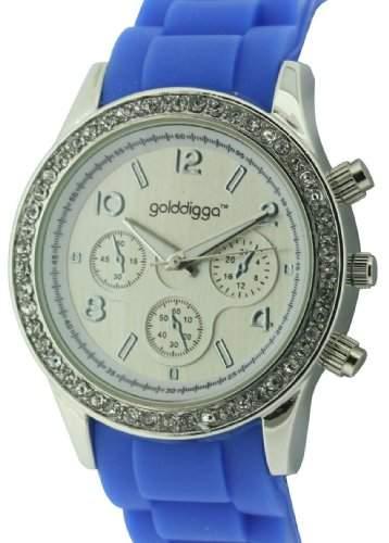 WomenGolddigga Damen Armbanduhr Analog Silikon blau DIG43E