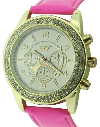 GOLDDIGGA Damen-Armbanduhr Analog Kunststoff Rosa DIG57A